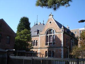 同志社大学 クラーク記念館(相国寺近くからの様子)