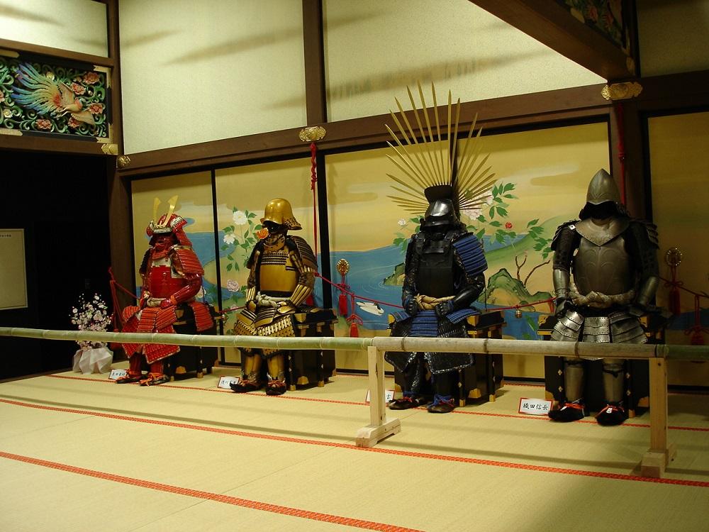 東映太秦映画村 さまざまな武将の鎧兜