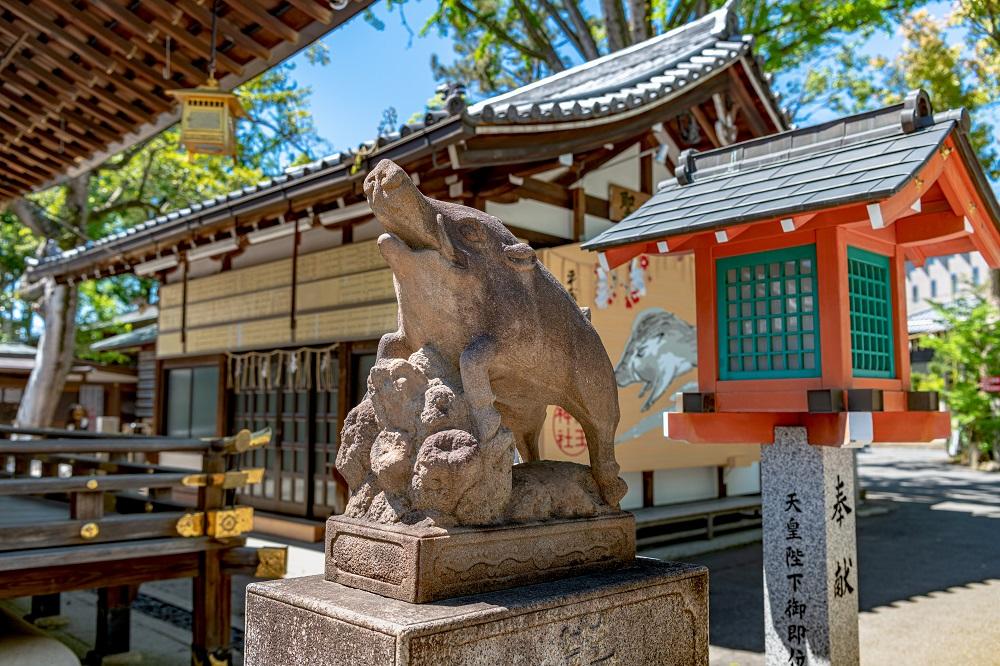 護王神社 狛猪