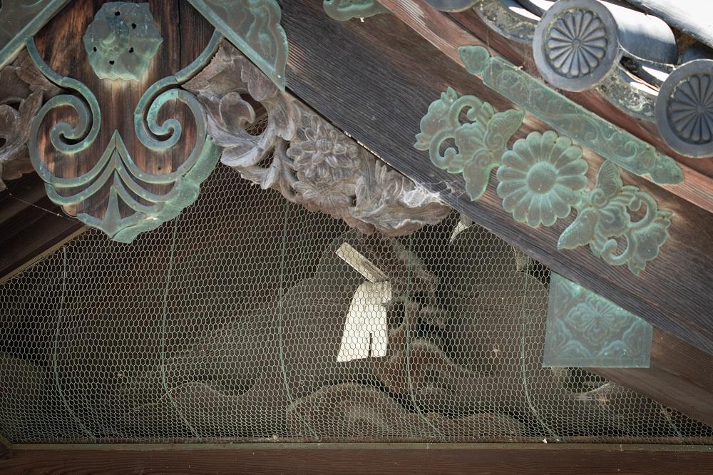 京都御所の鬼門除け、猿ヶ辻の神猿(まさる)
