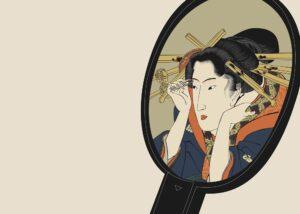 浮世絵 歌川国貞 今風化粧鏡