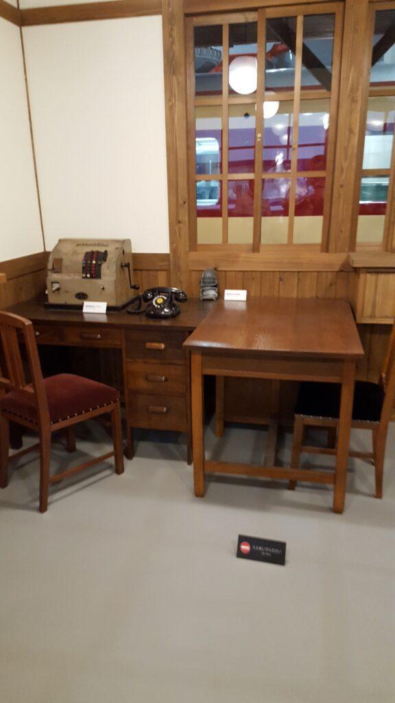 昭和時代の駅舎内執務室
