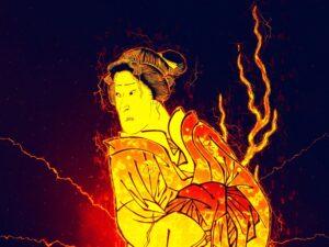 江戸時代 夫に裏切られた怒りの様子 幽霊の姿